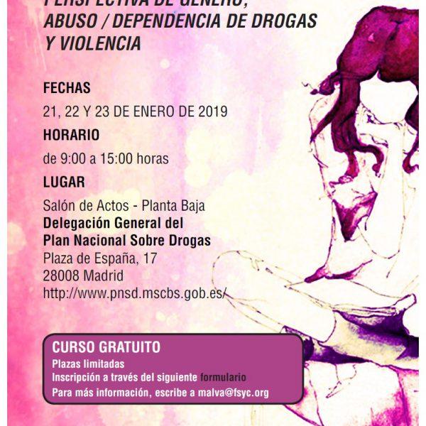 drogas género violencia drogodependencias