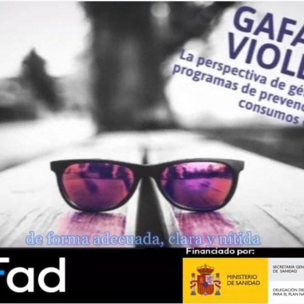 gafas violeta curso prevención género drogas